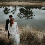 venue, wedding dress