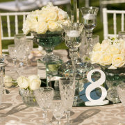 decor, flowers, table, table numbers