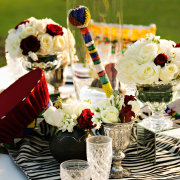 african, decor, table