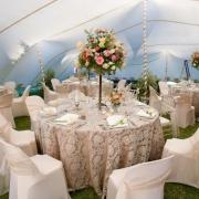 outside reception, tent, tent venue, venue, wedding venue