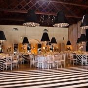 black and white, reception, venue, wedding venue