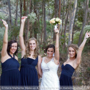 bride, bridesmaids, bouquet