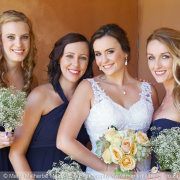 bridesmaids, makeup, bouquet