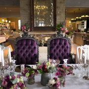 centrepiece, decor, flower, purple