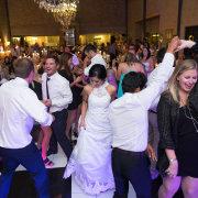 bridal party, chandelier, dance floor