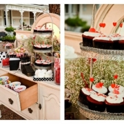 candy bar, candy station, cupcake, dessert
