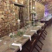 table decor with candles, long tables