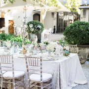 table decor, chairs