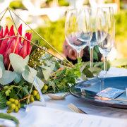 glassware, protea