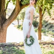 flower crown, wedding dress