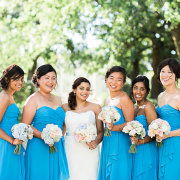bouquet, bridesmaid dress, dress