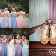 bridesmaid dress, shoes, wedding dress
