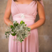 bouquet, bridesmaid dress
