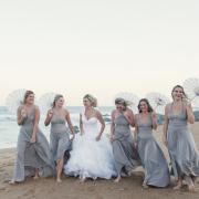 beach, bridesmaid dress, wedding dress