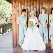 bouquet, bridesmaid dress, wedding dress