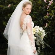 bouquet, lace, veil, wedding dress