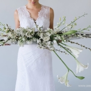 flowers, wedding dress