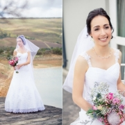 bouquet, veil, wedding dress