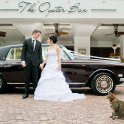 car, suit, transport, wedding dress