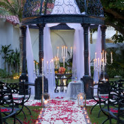 candles, decor, gazebo, outdoor ceremony