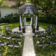 chairs, gazebo, outdoor ceremony