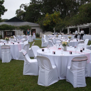 chair covers, table
