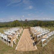 aisle, outdoor ceremony