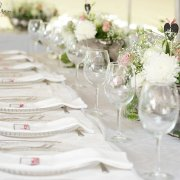 flowers, glassware, table setting, table setting