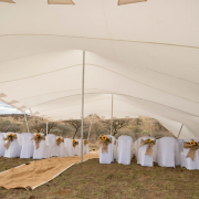 chair covers, marquee