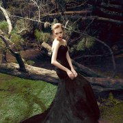 black, forest, wedding dress