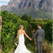 bride and groom, vineyard