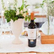 centrepiece, wine