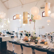 centrepiece, chair, decor, flowers, lighting, tableware