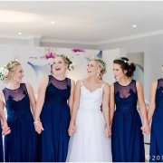 bridesmaids dress, flower crown