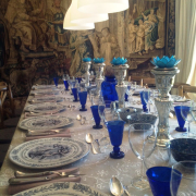 crockery, glassware, table
