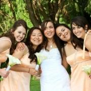 bridesmaid dress, makeup
