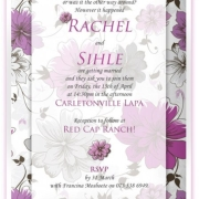 purple, wedding invitation, wedding stationery