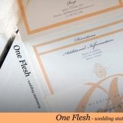 peach, wedding invitation, wedding stationery