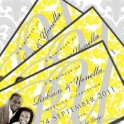 wedding invitation, wedding stationery, yellow
