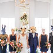 bouquet, bridesmaid dress, dress, suit