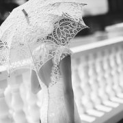 lace, parasol, wedding dress
