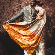 indian wedding, bride and groom, indian, sari