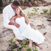 bride and groom, beach wedding, beach
