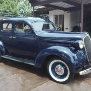 blue, car, classic, vintage