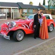 car, red, vintange