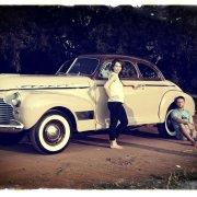 car, classic, vintage, white