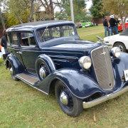 blue, car, vintage