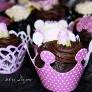 chocolate, cupcake, purple, dessert