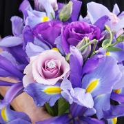 bouquet, purple