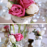 decor, pink, roses, flowers